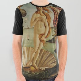 The Birth of Venus by Sandro Botticelli All Over Graphic Tee