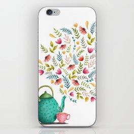 Beau-tea-ful Life Illustration iPhone Skin