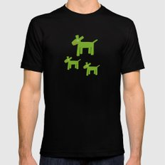 Dogs-Green Black MEDIUM Mens Fitted Tee