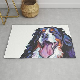Berner Bernese Mountain Dog Portrait Pop Art painting by Lea Rug