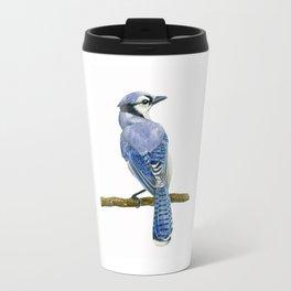 Blue jay watercolor Travel Mug