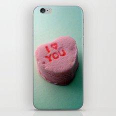 I Heart You candy heart iPhone & iPod Skin