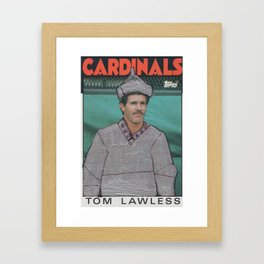 Tom Lawless as the Tin Man, Cardinals Framed Art Print
