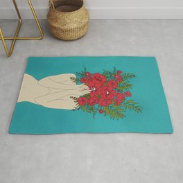 Blooming Red Rug