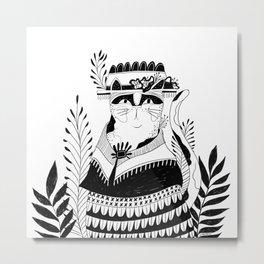 Cat McPoppins Metal Print