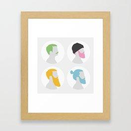 4x Mister hipster Framed Art Print