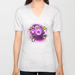 Skull Piggy Bank Unisex V-Neck