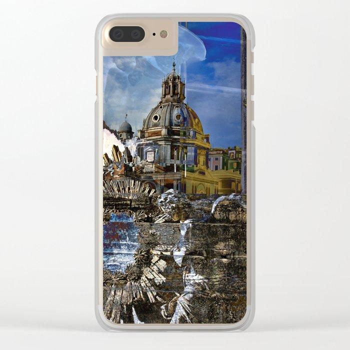 Roman Impression Clear iPhone Case