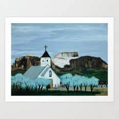 Superstition mountain Art Print