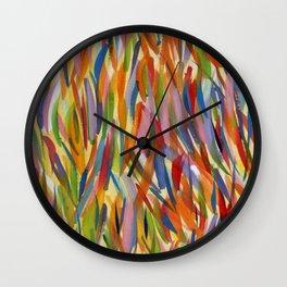 Colour Daubs Wall Clock
