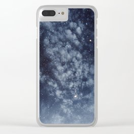Blue veiled moon II Clear iPhone Case
