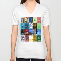 world cup V-neck T-shirts featuring World Cup: 1930-2014 by James Campbell Taylor