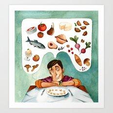 Polish kitchen in Europe Art Print