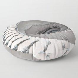 Pretty white spiral staircase Floor Pillow