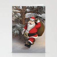 santa Stationery Cards featuring Santa by Design Windmill