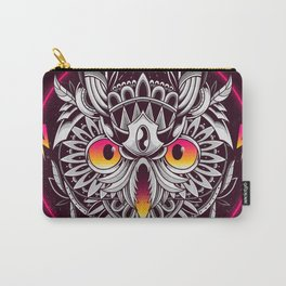 Retrowave Owl Carry-All Pouch