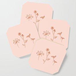 Wildflower Line Art Coaster
