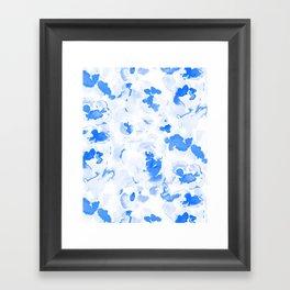 AbstractFlora Lapis Blue Framed Art Print