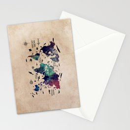 Oceans Life World Map #map #worldmap Stationery Cards