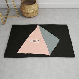 Modern Evil Eye Triangle Symbol  Rug
