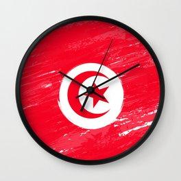 Tunisia's Flag Design Wall Clock