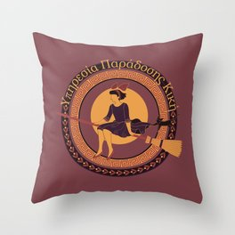 Ancient Greek Kiki's Delivery Service Throw Pillow