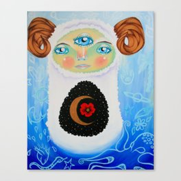 Dreamtime Yeti Canvas Print