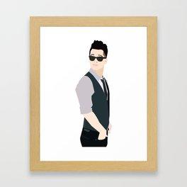 Brendon Urie Illustration Framed Art Print