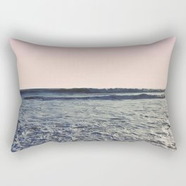 When The Waves Kiss The Shore Rectangular Pillow