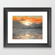 A Mackinac Island Sunset Framed Art Print