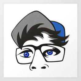Blue Eyed Cap Art Print