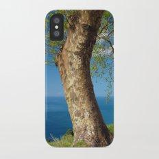 Trees overlooking the ocean Slim Case iPhone X