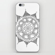 Black and White Circle Doodle iPhone & iPod Skin
