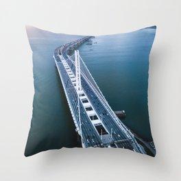 Oakland - San Francisco Bay Bridge Throw Pillow