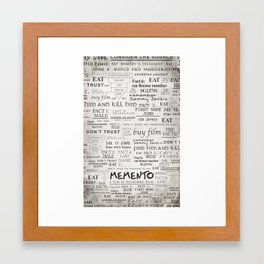 Memento Framed Art Print