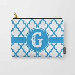 Blue Monogram: Letter G Carry-All Pouch