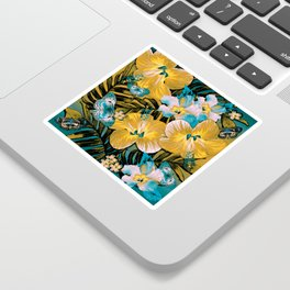Golden Vintage Aloha Sticker