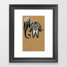 Tribal Crest Framed Art Print
