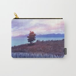 Sunset and lone tree Carry-All Pouch