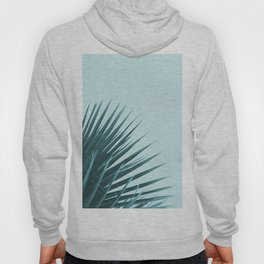 Blue Palm Leaf Hoody