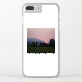 Vermont Sunset over Mad Rive Gle Vermont Clear iPhone Case