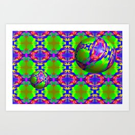 0607 Pattern on the bowls ... Art Print