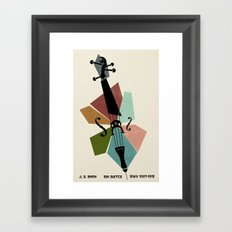 Bach - Cello Suites Framed Art Print