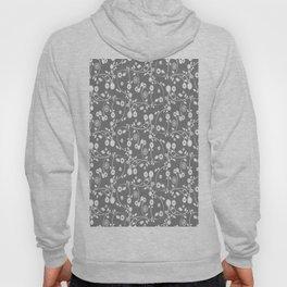 Gray Floral Pattern Hoody
