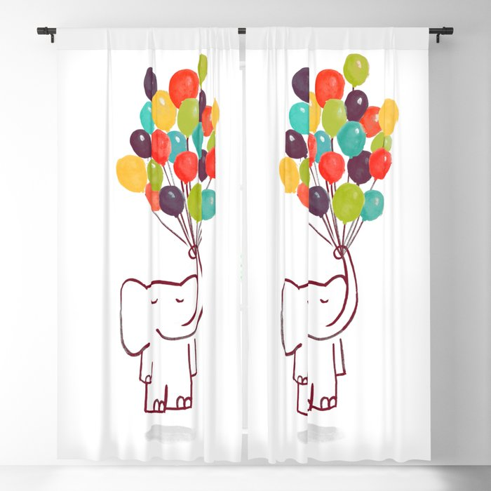 Flying Elephant Blackout Curtain