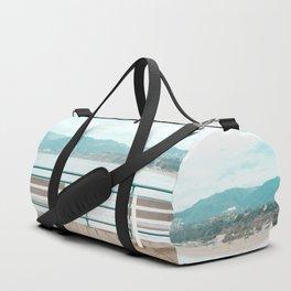 Travel photography Santa Monica III bench Duffle Bag