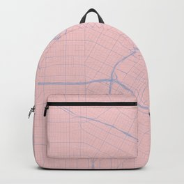 Los Angeles, California City Map in Rose Quartz Backpack