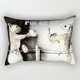 Squirrel boxing Rectangular Pillow