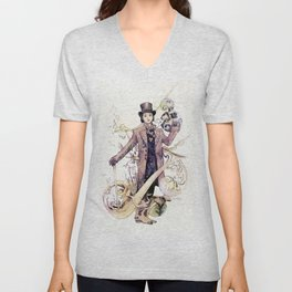 Willy Wonka and his chocolate factory Unisex V-Neck