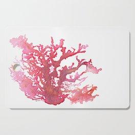 Aloha Pink Coral Watercolor Art Cutting Board